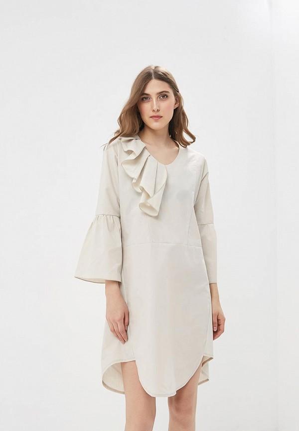 Купить женское платье Adzhedo бежевого цвета