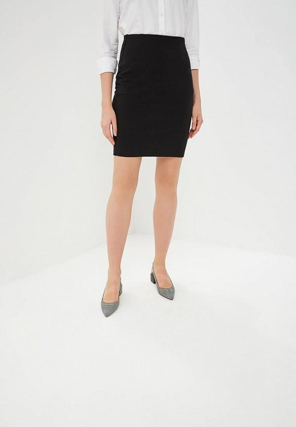 женская прямые юбка adzhedo, черная