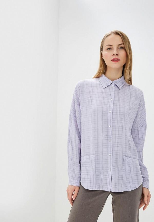 женская рубашка с длинным рукавом adzhedo, фиолетовая