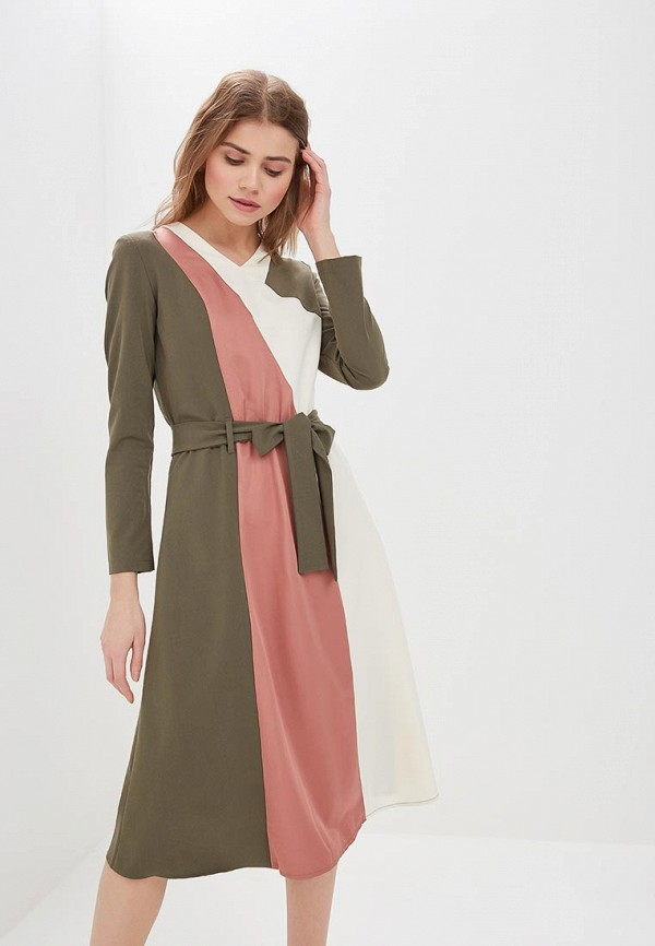 женское повседневные платье adzhedo, хаки