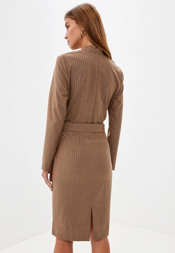 Фото 3 - женское платье Adzhedo бежевого цвета