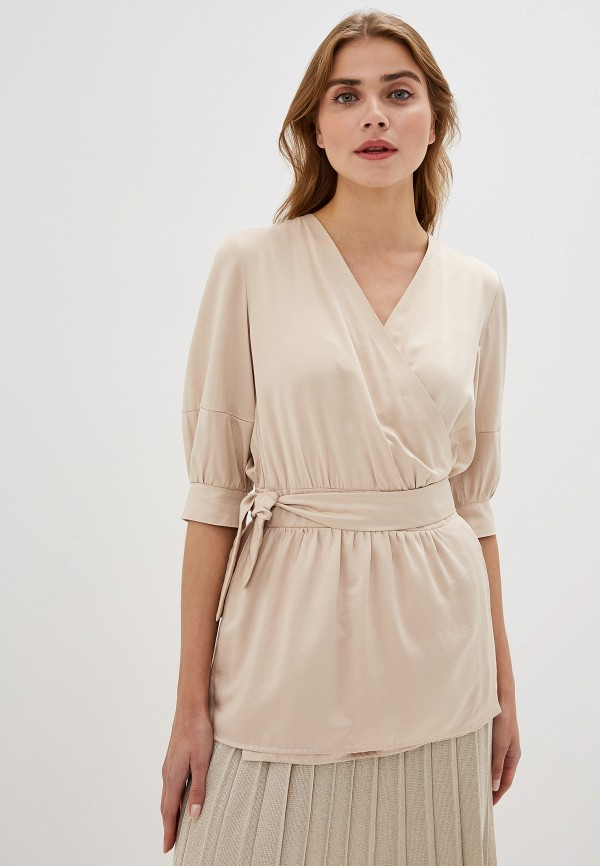 женская блузка adzhedo, бежевая