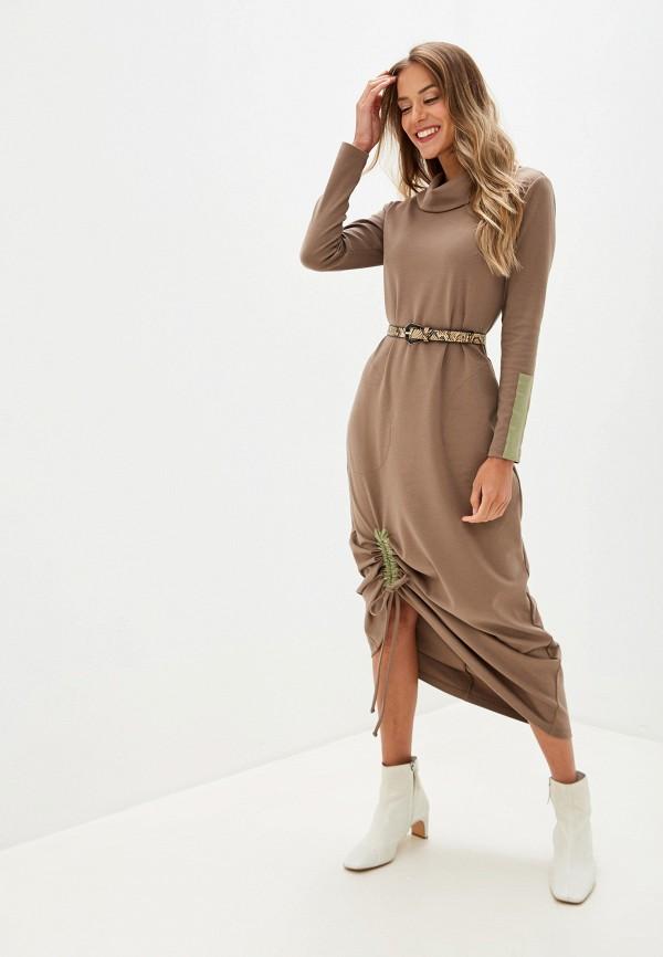 женское повседневные платье adzhedo, бежевое