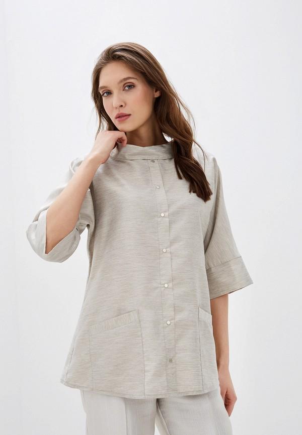 женская блузка adzhedo, серая