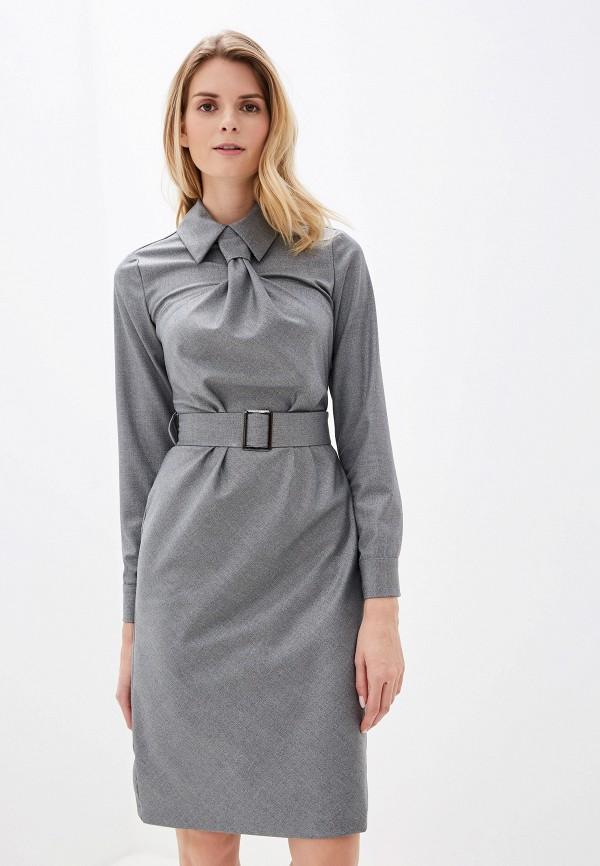 женское повседневные платье adzhedo, серебряное