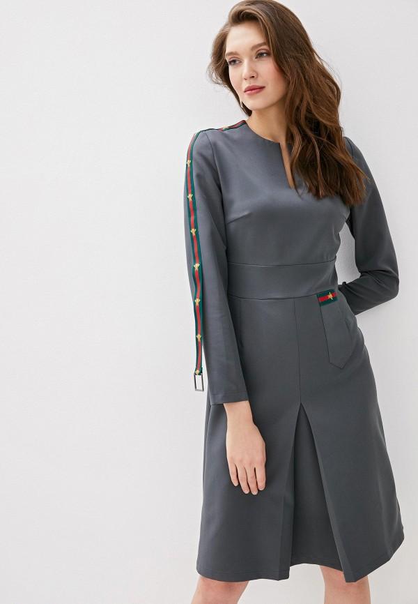 женское платье-футляр adzhedo, серое