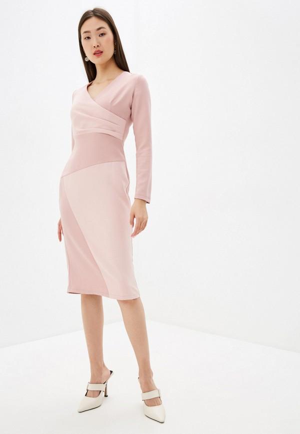 женское вечерние платье adzhedo, розовое