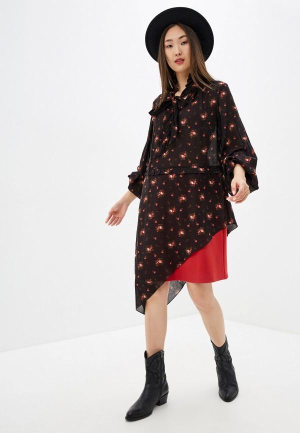женское повседневные платье adzhedo, черное
