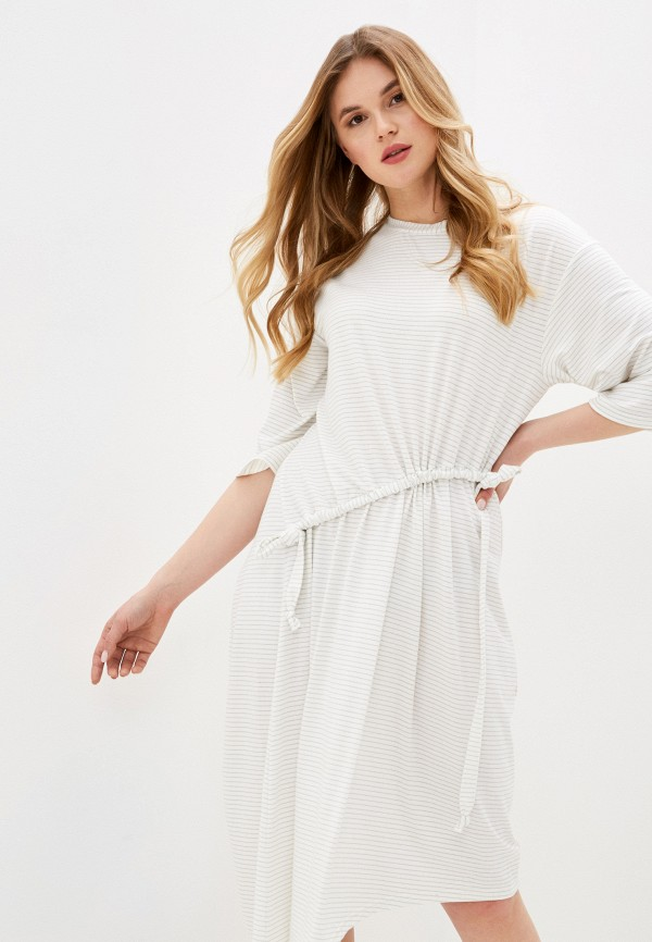 женское повседневные платье adzhedo, белое
