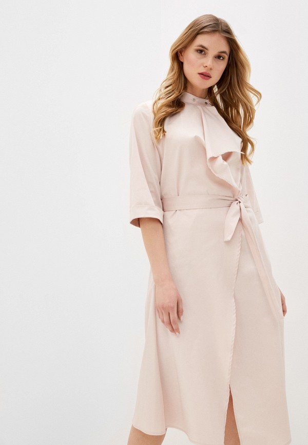 женское платье adzhedo, бежевое