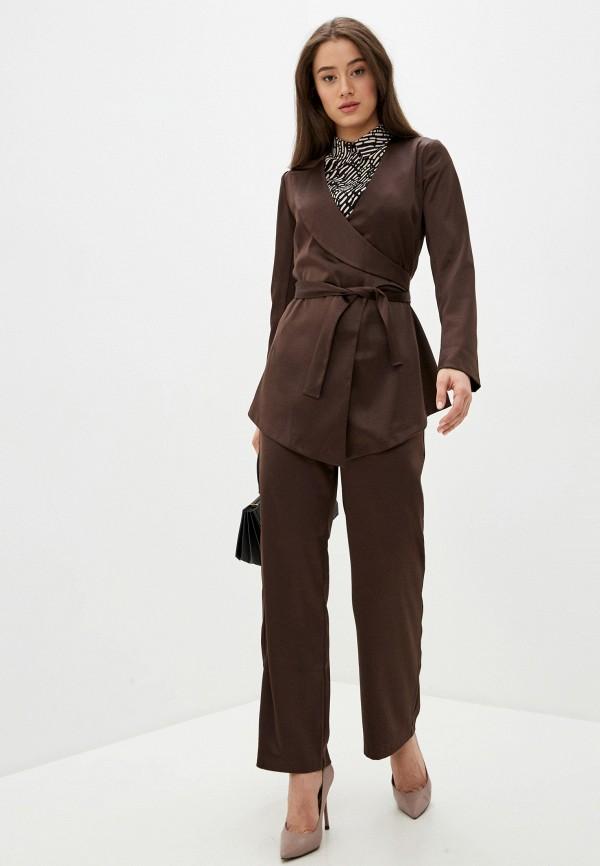 женский костюм adzhedo, коричневый