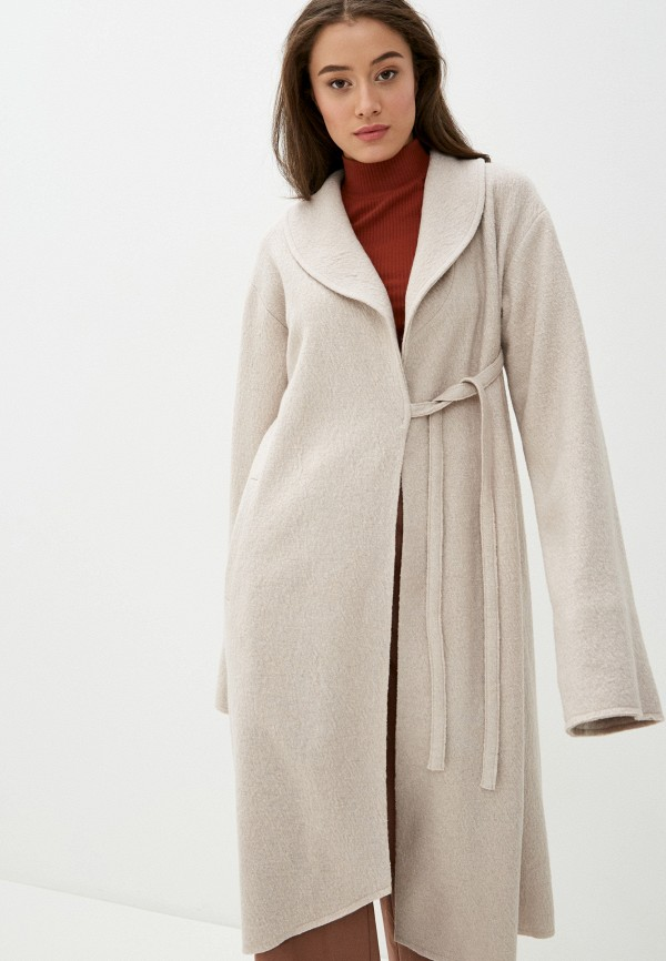 женское пальто adzhedo, бежевое