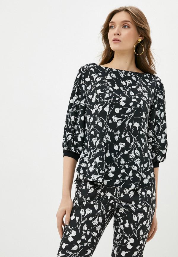 женская блузка с коротким рукавом adzhedo, черная