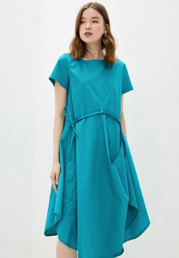 женское повседневные платье adzhedo, бирюзовое