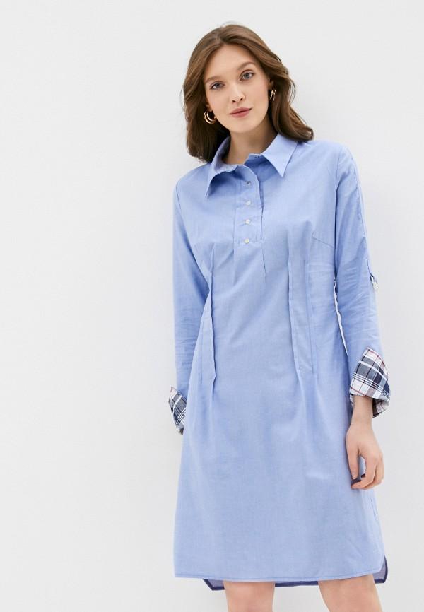 женское платье-рубашки adzhedo, голубое
