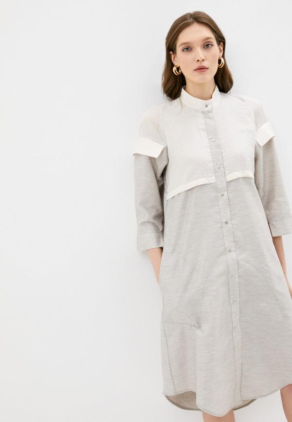 женское платье-рубашки adzhedo, серое