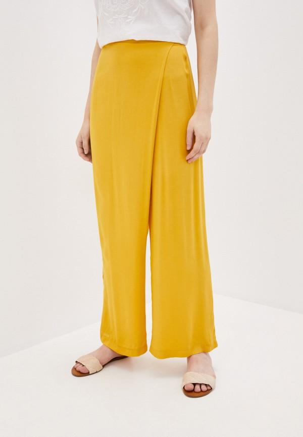 женские брюки клеш adzhedo, желтые