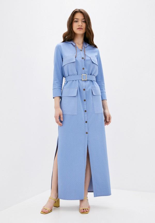 женское пальто adzhedo, голубое
