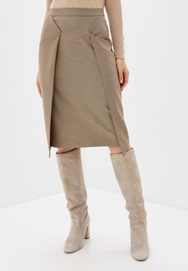женская прямые юбка adzhedo, бежевая