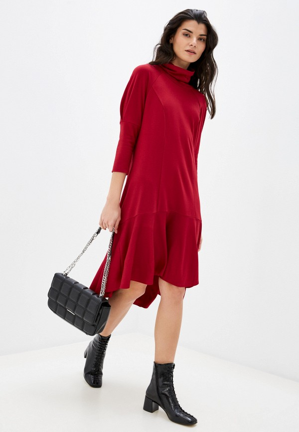 женское повседневные платье adzhedo, бордовое