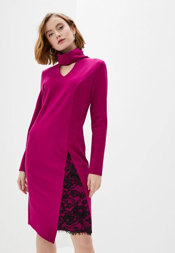 женское повседневные платье adzhedo, розовое
