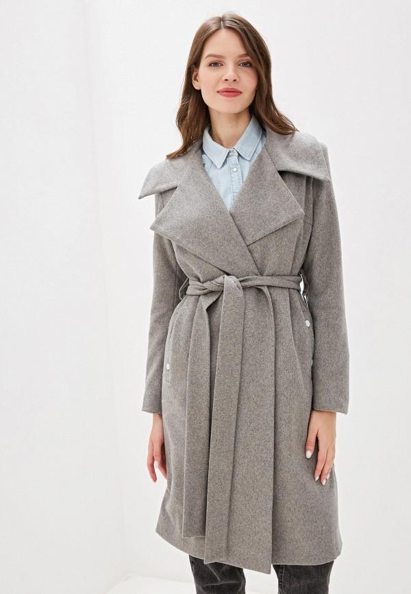 женское пальто adzhedo, серое