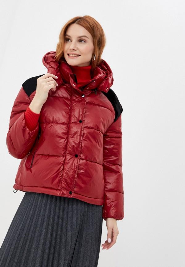 женская куртка adrixx, бордовая