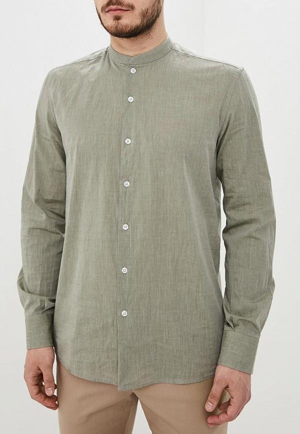 мужская рубашка с длинным рукавом adolfo dominguez, хаки