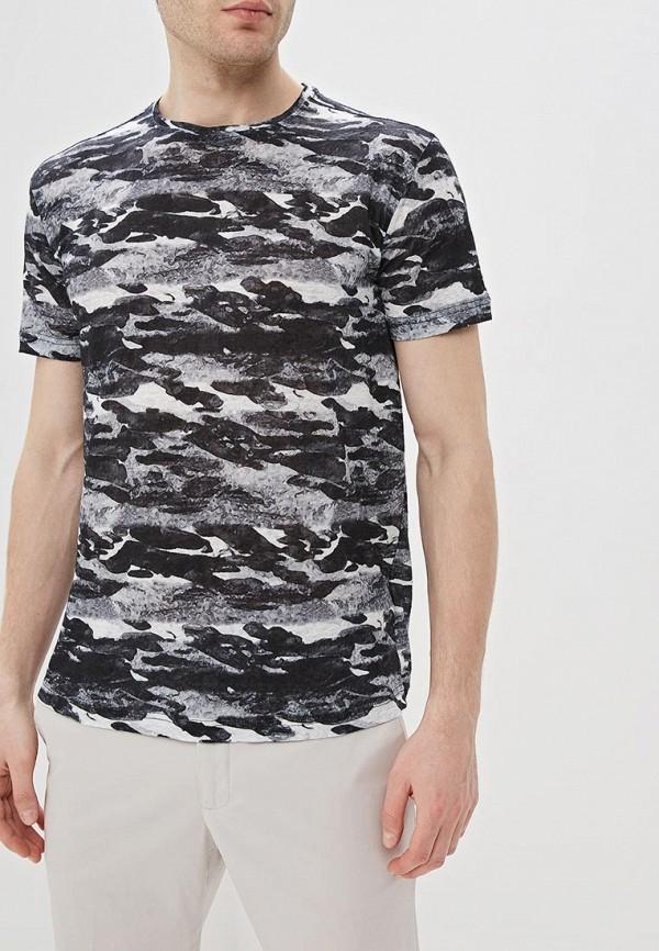 мужская футболка с коротким рукавом adolfo dominguez, черная