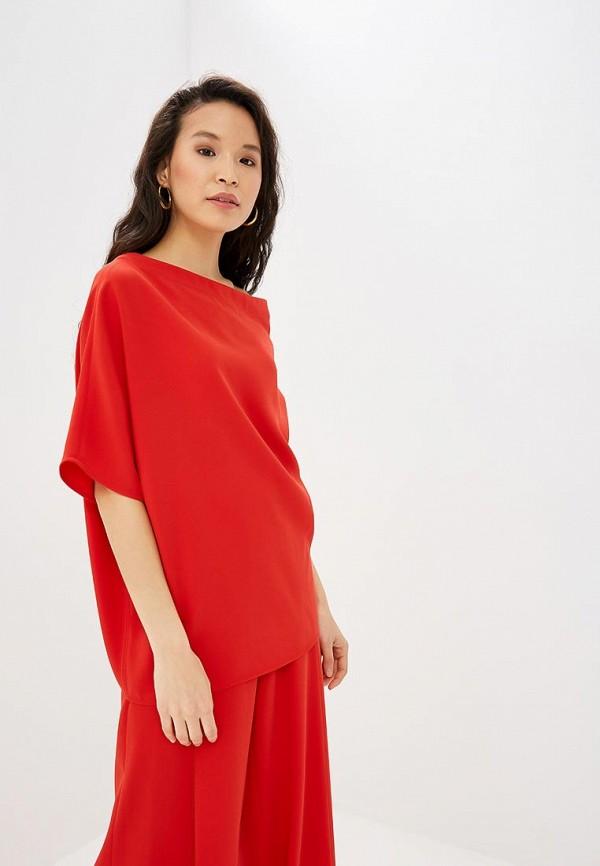 женская блузка adolfo dominguez, красная
