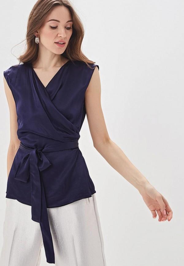 женская блузка adolfo dominguez, синяя