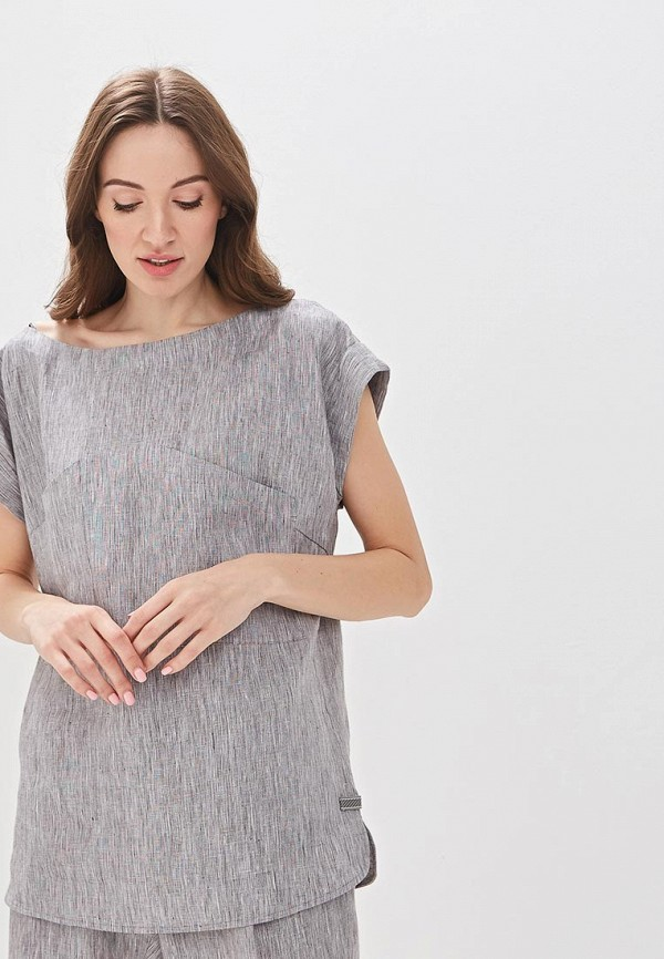 женская блузка adolfo dominguez, серая