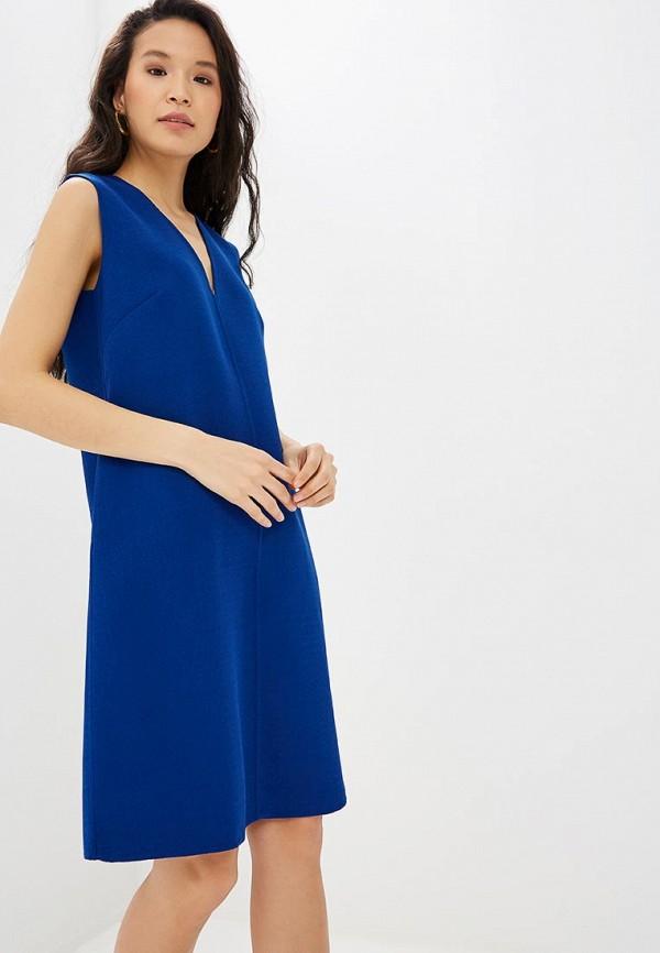 женское повседневные платье adolfo dominguez, синее