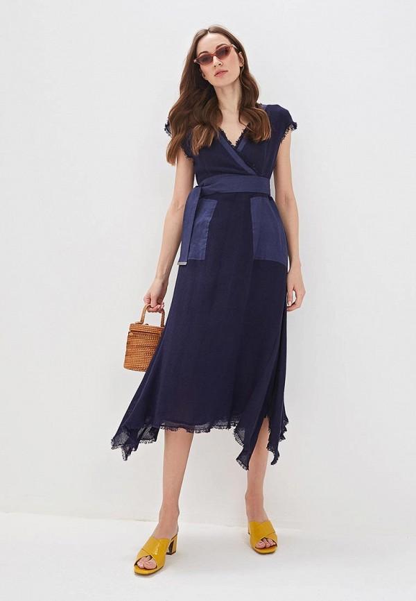 женское платье adolfo dominguez, синее