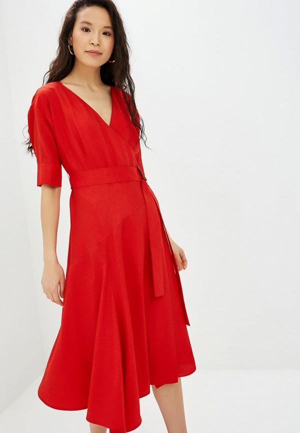 женское повседневные платье adolfo dominguez, красное