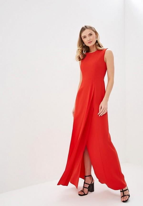 женское вечерние платье adolfo dominguez, красное