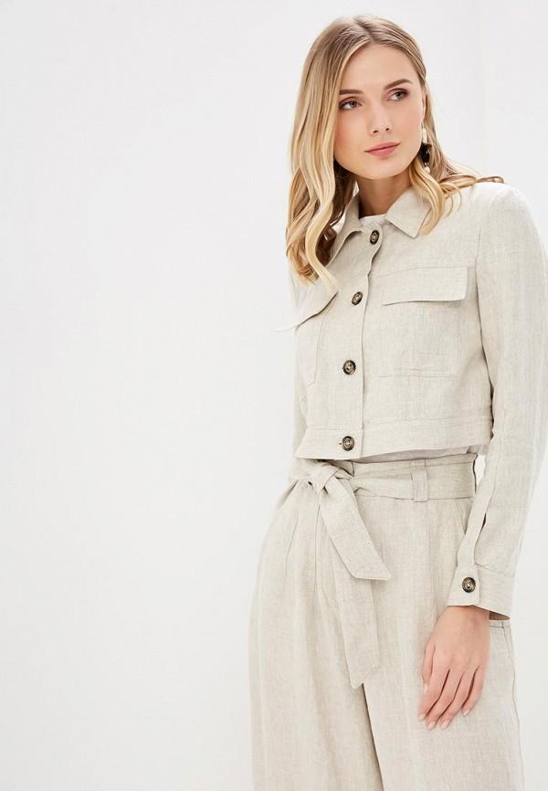женская куртка adolfo dominguez, бежевая