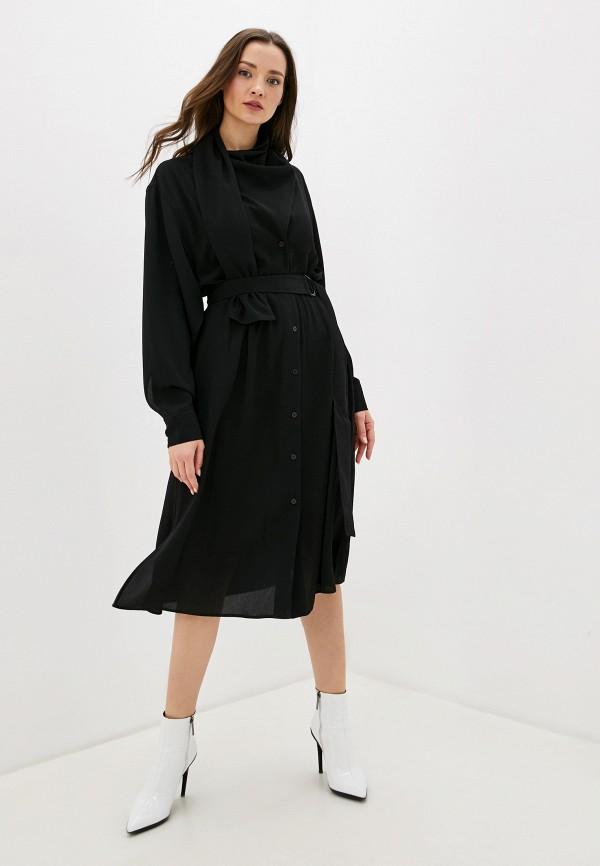 женское повседневные платье adolfo dominguez, черное