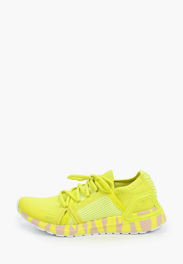 женские кроссовки adidas by stella mccartney, желтые
