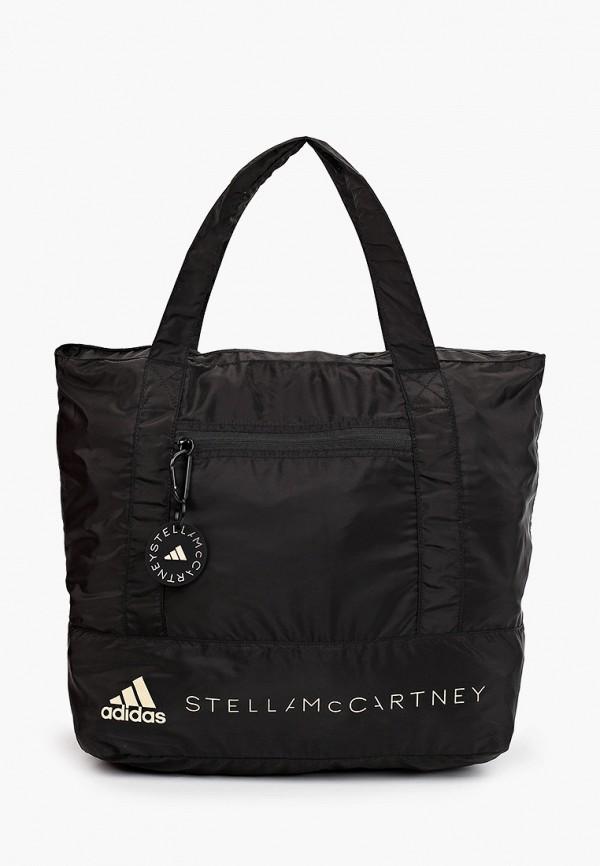 женская спортивные сумка adidas by stella mccartney, черная