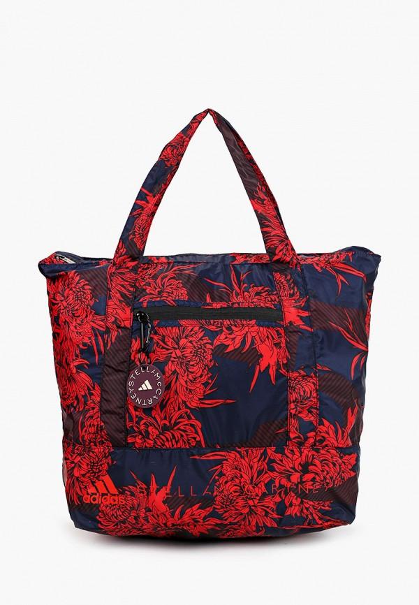 женская спортивные сумка adidas by stella mccartney, синяя