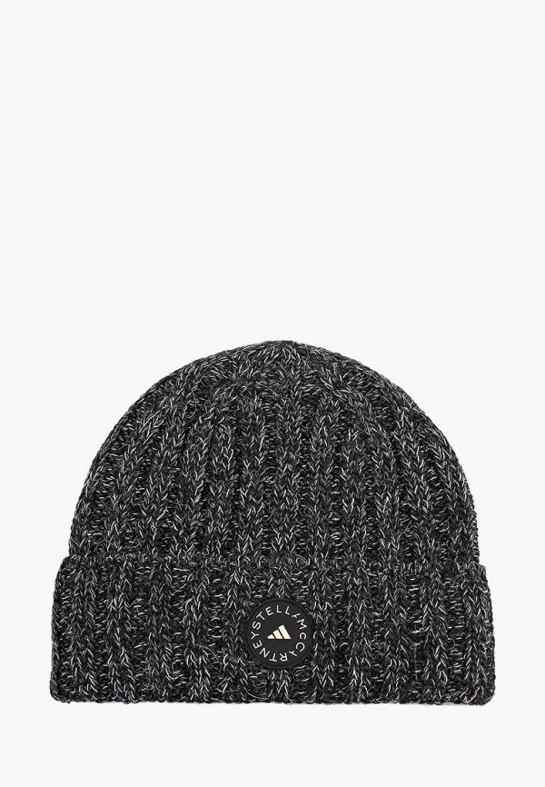 женская шапка adidas by stella mccartney, черная