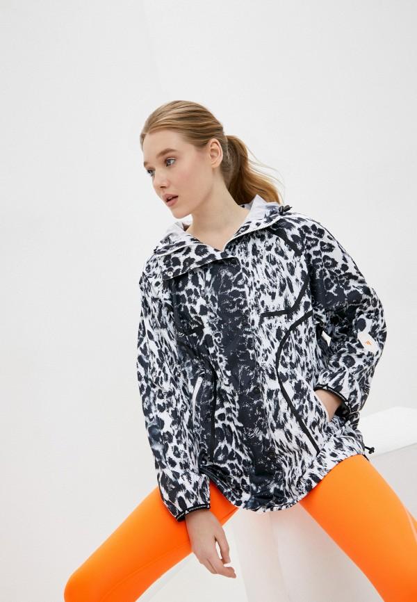 женская ветровка adidas by stella mccartney, серая