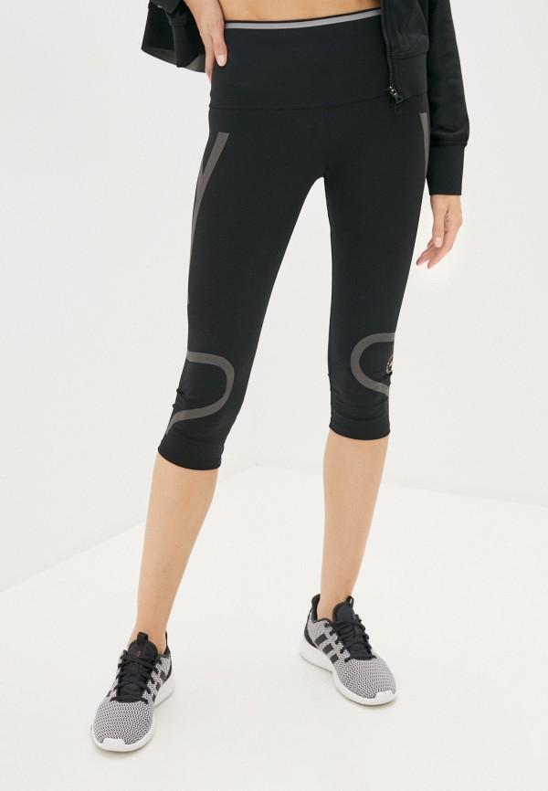 женские капри adidas by stella mccartney, черные