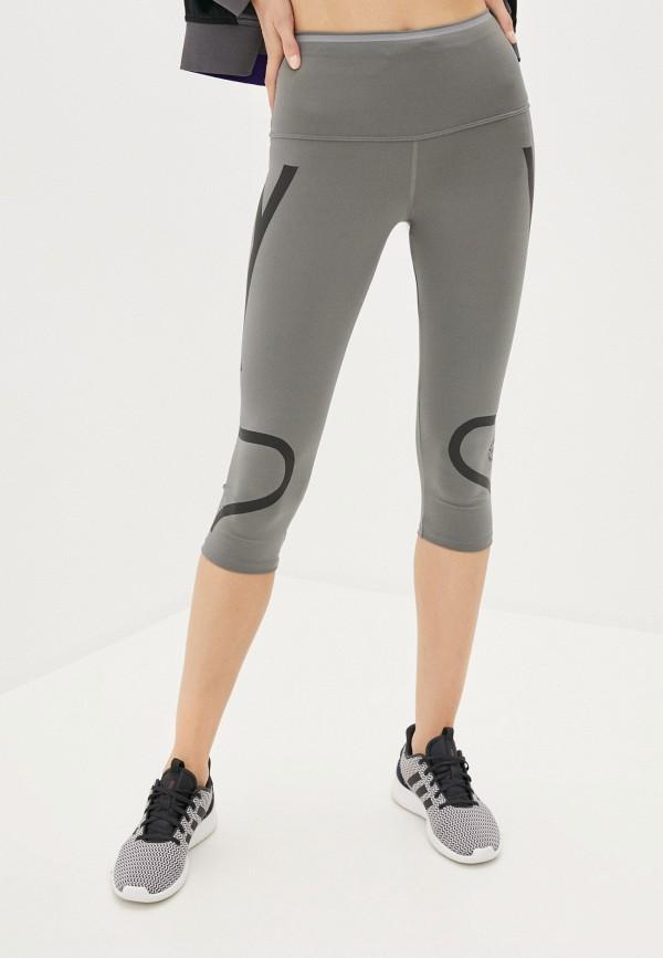 женские капри adidas by stella mccartney, серые