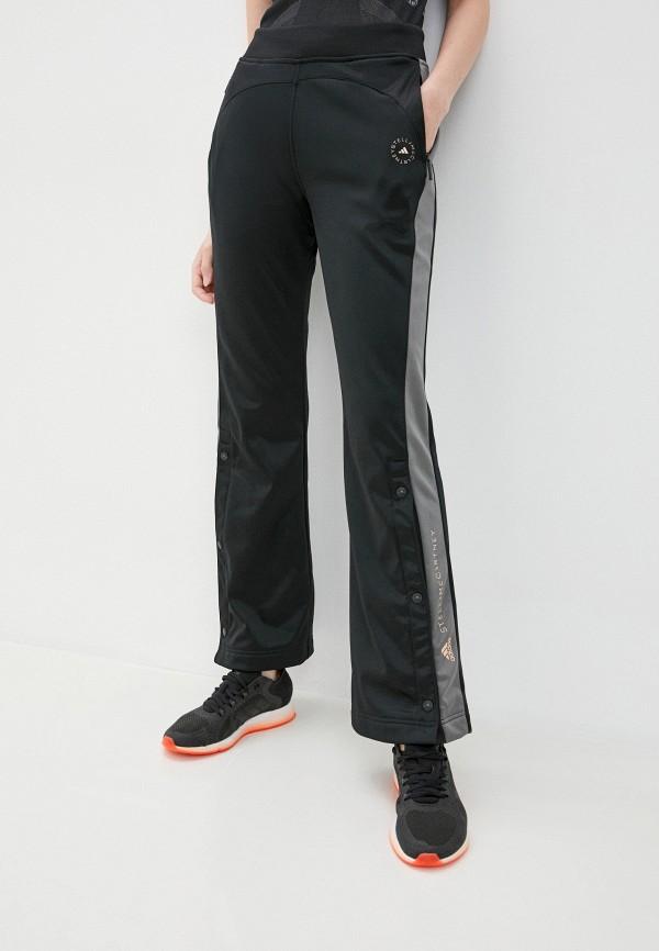 женские спортивные брюки adidas by stella mccartney, черные