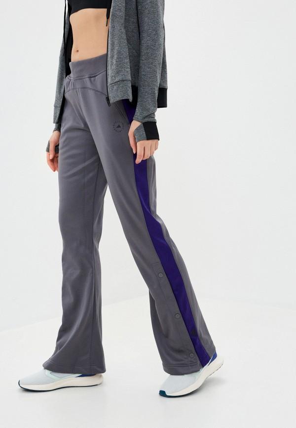 женские спортивные брюки adidas by stella mccartney, серые