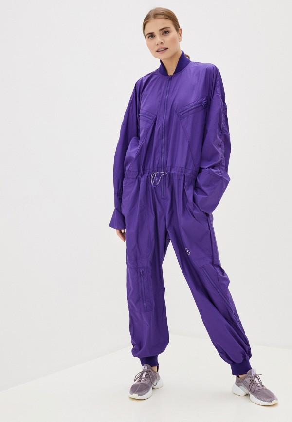 женский спортивные комбинезон adidas by stella mccartney, фиолетовый