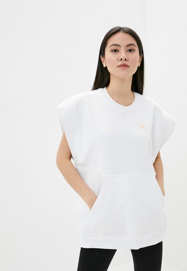 женская туника adidas by stella mccartney, белая