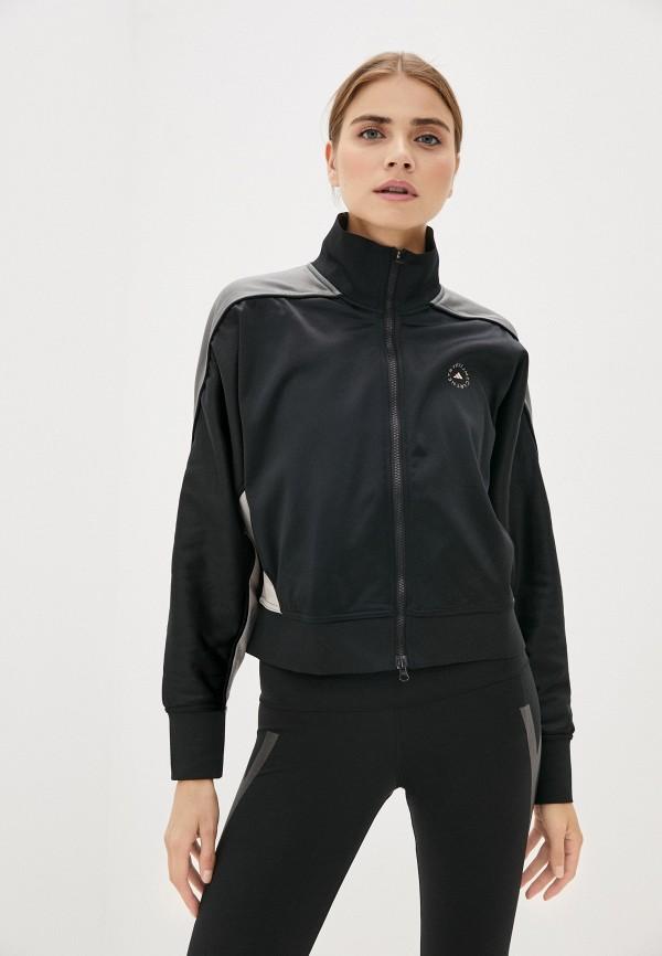 женская олимпийка adidas by stella mccartney, черная